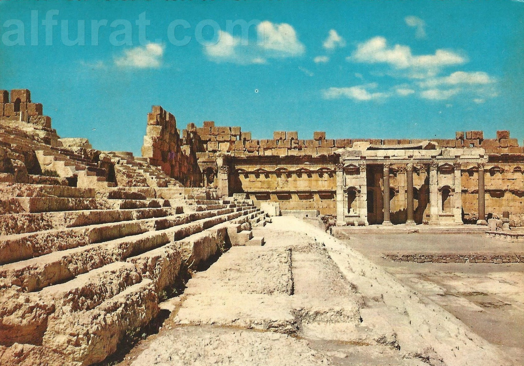 Baalbeck  Steps of Jupiter Temple and the Exedra