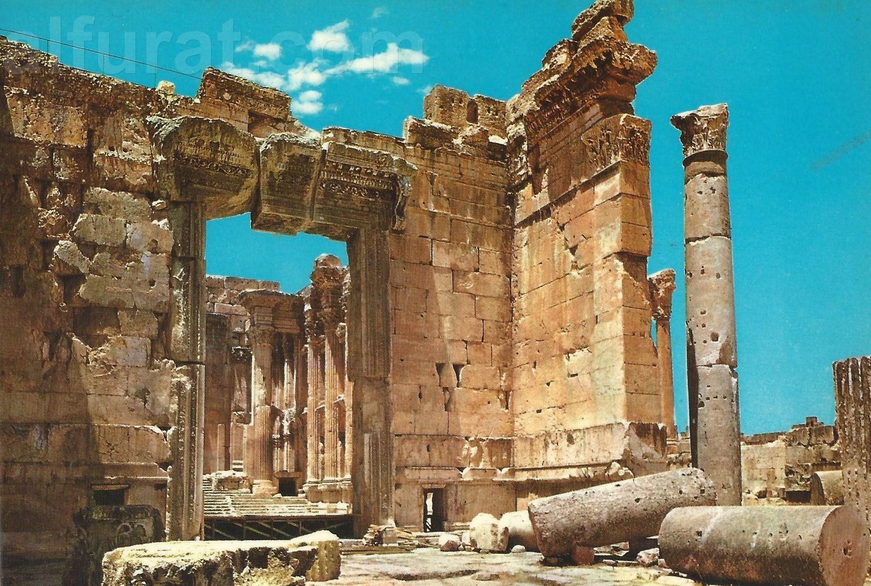 Baalbeck -Entance of the Temple of Bacchus  584   بعلبك