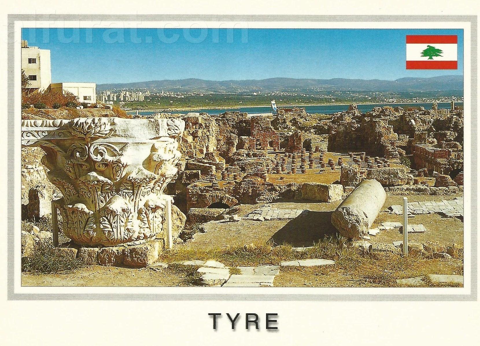 Tyre - The Roman Road Thermae ( Public Baths) C 941   صور